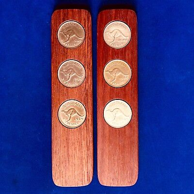 70th Birthday Games (70th Birthday Gift Present Jarrah Two-Up Game set w/ 1949 Australian)