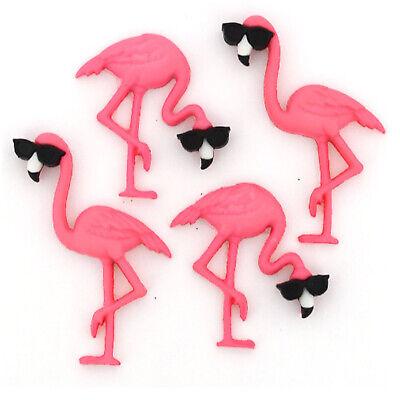 Dress It Up KnöpfeThink Pink Flamingos 4-teilig 33-10407 ()