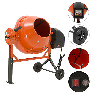2-15cuft Electric Concrete Cement Mixer Barrow Machine Mixing Mortar Portable