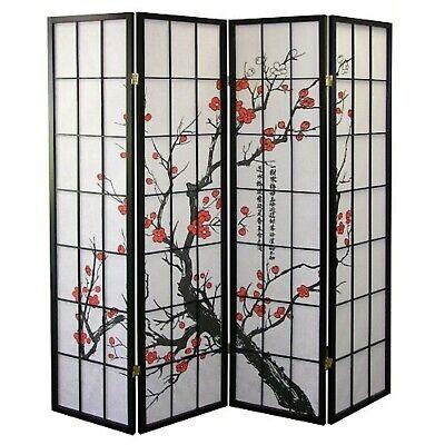 4, 6, 8 Panel Plum Blossom Screen Room Divider ()