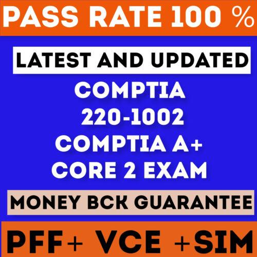 220-1002 CompTIA A+ Core 2 Exam Certification  Test PDF & Sim