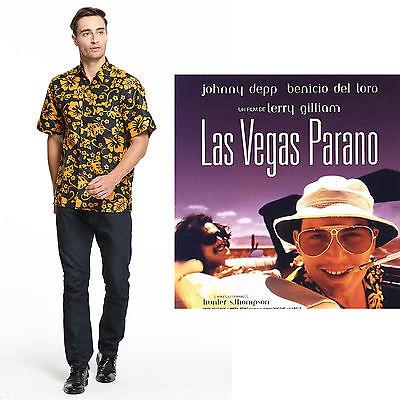 Fear and Loathing in Las Vegas Raoul Duke Cosplay Kostüm Hemd für Herren(S-2XL) (Fear And Loathing In Las Vegas Kostüme)