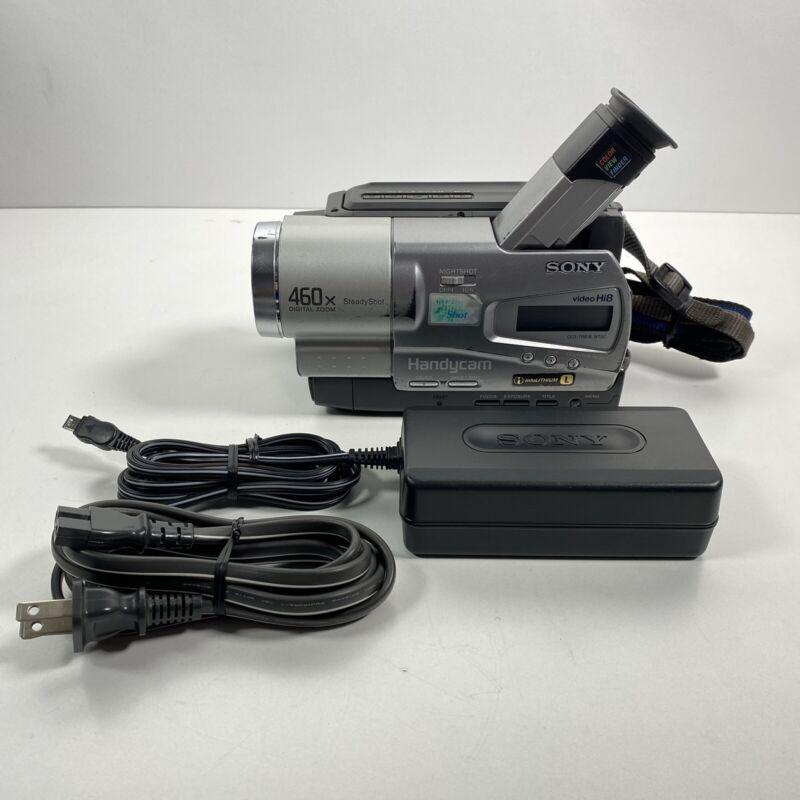 Sony Handycam CCD-TR818 Video Camera Recorder Hi8 460x Digital Zoom Nightshot