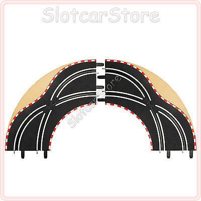 Carrera GO 61655 Spurwechsel-Kurve 1/90° (2er Set) 1:43 auch Digital143 Schienen
