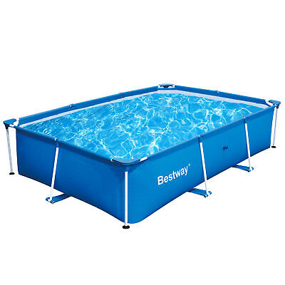 Bestway 118 x 79 x 26 Inches 871 Gallon Deluxe Splash Frame Kids Swimming -
