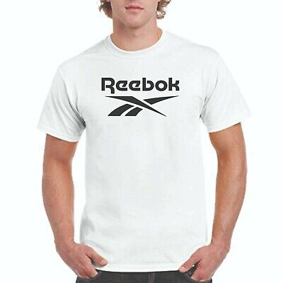Reebok T-shirt, Reebok logo on white T,