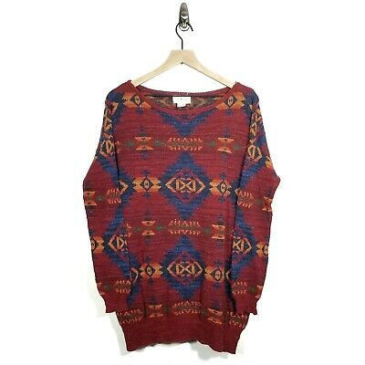 Ralph Lauren Denim & Supply Women's Medium Oversized Aztec Southwestern Sweater