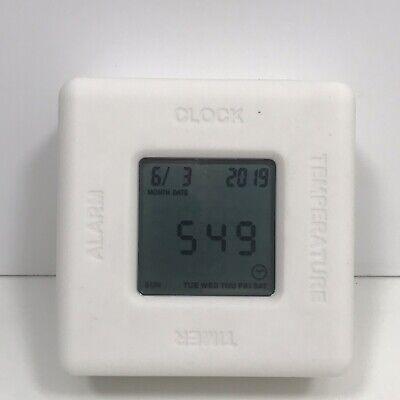Mitsubishi Square Alarm Clock Multi Color Digital Display Temperature Timer