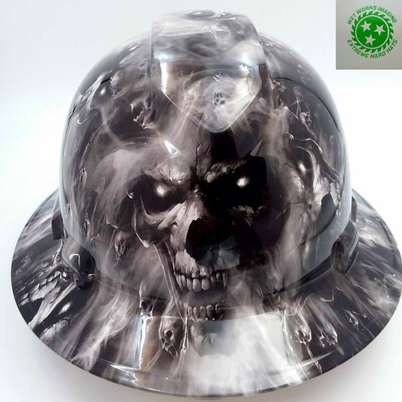 Hard Hat custom hydro dipped , OSHA approved FULL BRIM,HELL HAVE NO MERCY HADES