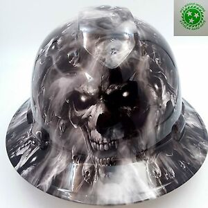 Hard Hat custom hydro dipped , OSHA approved FULL BRIM,HELL HAVE NO MERCY HADES