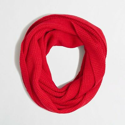 Used, J Crew Waffle Infinity Scarf in Red for sale  Tampa