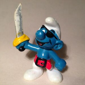 VINTAGE SMURF PIRATE FIGURE