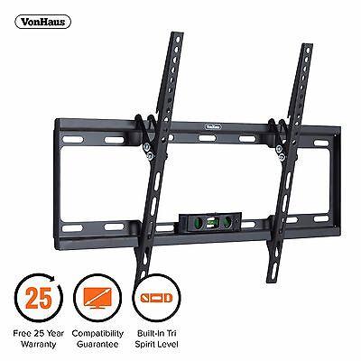 """VonHaus 37-70"""" Tilt TV Wall Mount Bracket with Tri Spirit Level & 40kg Capacity"""
