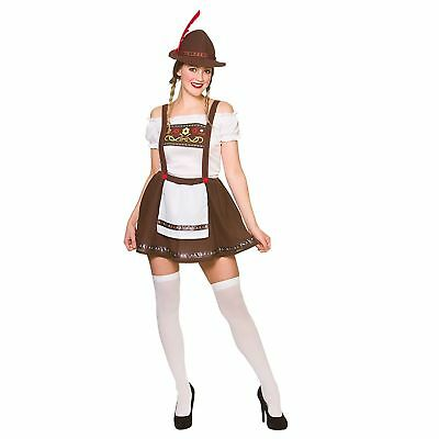 Bavarian Beer Maid Germany Oktoberfest Adults Womens Fancy Dress Costume