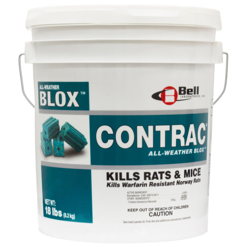 Contrac All-Weather Blox Rodenticide (18 Lbs ) Rodent Rat Mouse Killer Bait Blox
