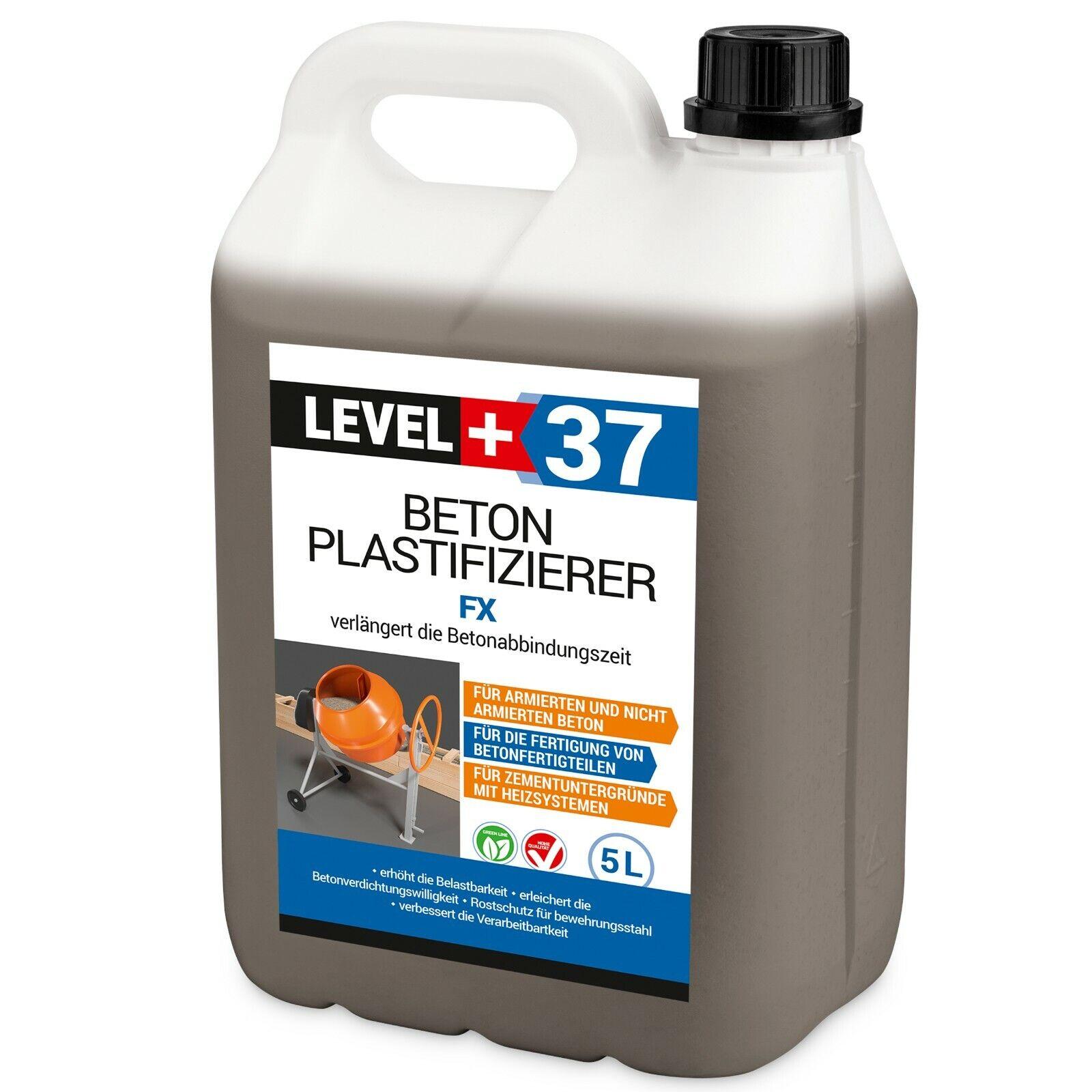 5L Beton-Zusatzmittel Plastifizierer Betonverflüssiger Estrich Verzögerer RM37