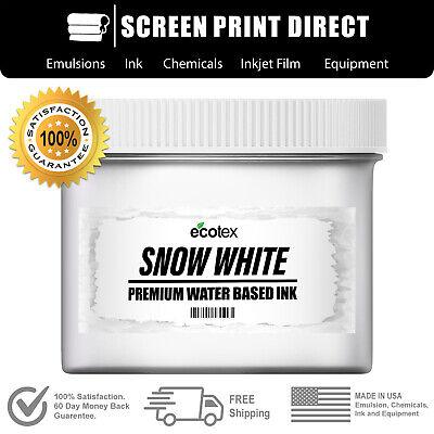 Ecotex Snow White Water Based Ready To Use Ink- Screen Printing- Quart - 32 Oz