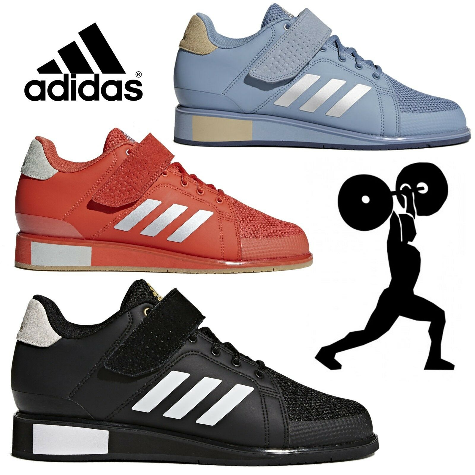 Details about Adidas Power Perfect 3 Weightlifting Shoes Mens Womens Kids Powerlifting Boots