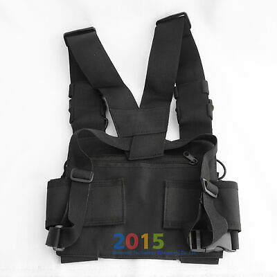 Radio Chest Harness Chest Front Pack Pouch Holster Vest Rig For Radio