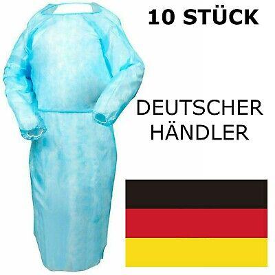10 STÜCK Schutzkleidung Schlupfkittel Mantel Einweg Kittel Schutzkittel Labor