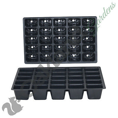 200 X 25 Cell Seed Tray Inserts Full Size Plug Trays Bedding Plant Pack