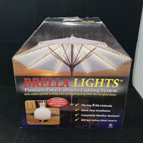 2 brella lights patio umbrella lighting system