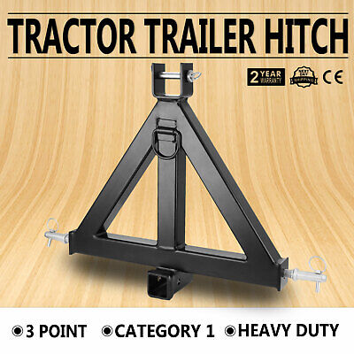 44lbs 3 Point 2 Receiver Trailer Tow Hitch Category 1 Attachment Tractor