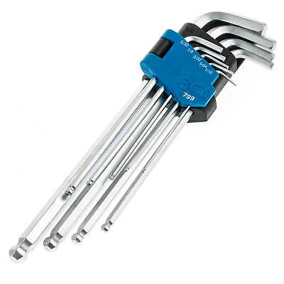 Innensechskant Schlüssel 9-tlg. Zoll Werkzeug Satz Sechskant für Inbus Schrauben