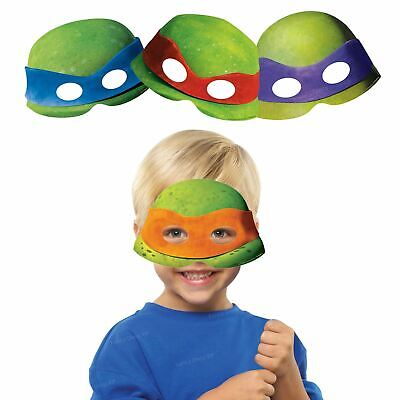 8 x Teenage Mutant Ninja Turtle Card Face Masks Fun Party Favours Birthday TMNT