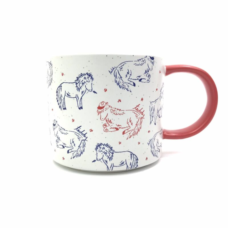WEST ELM 2018 ASPCA Teddy the Shetland Coffee Mug Instagram Celebrity 16 oz NWOT