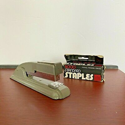 Vintage Swingline Inc. Gray Stapler With Acco Staples Made In New Jersey