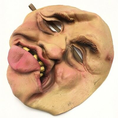 Creepy Halloween Costumes Old (Creepy Scary Ugly Face Mask Old Man Witch Warts Tongue Halloween Costume Latex)