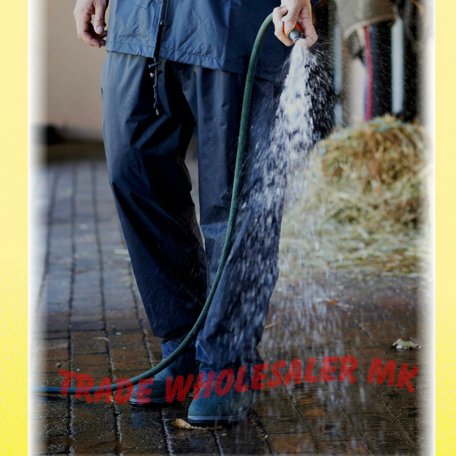 WWK Waterproof Over Trouser rain fishing work storm legging Mens Womens NEW