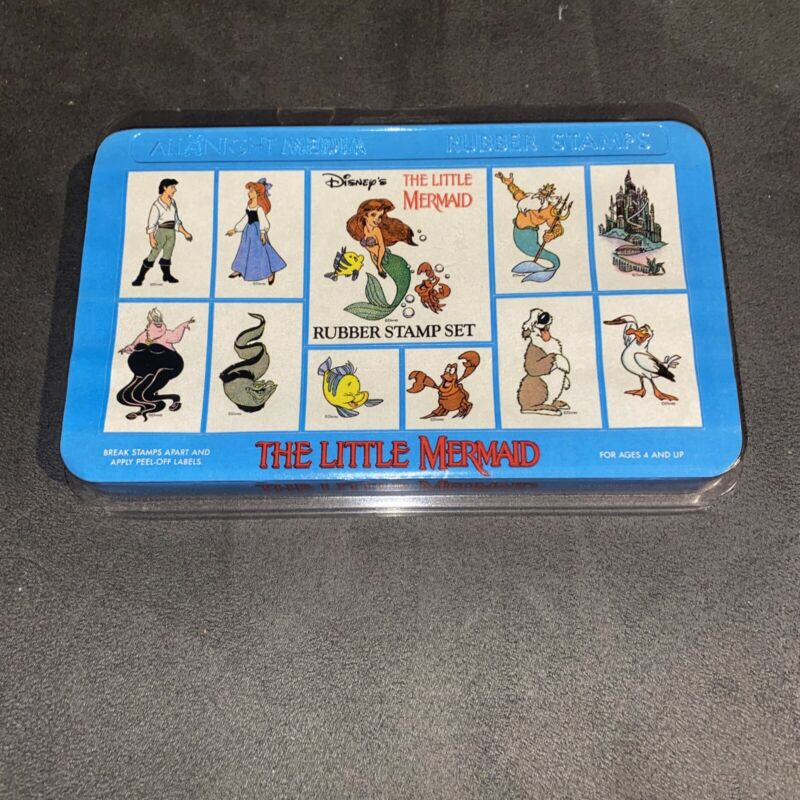 Disney The Little Mermaid Rubber All Night Media Stamps 90s Set Of 11 New