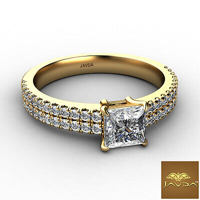 Double Prong Princess Cut Diamond Engagement Ring GIA Certified F Color SI1 1Ct 5