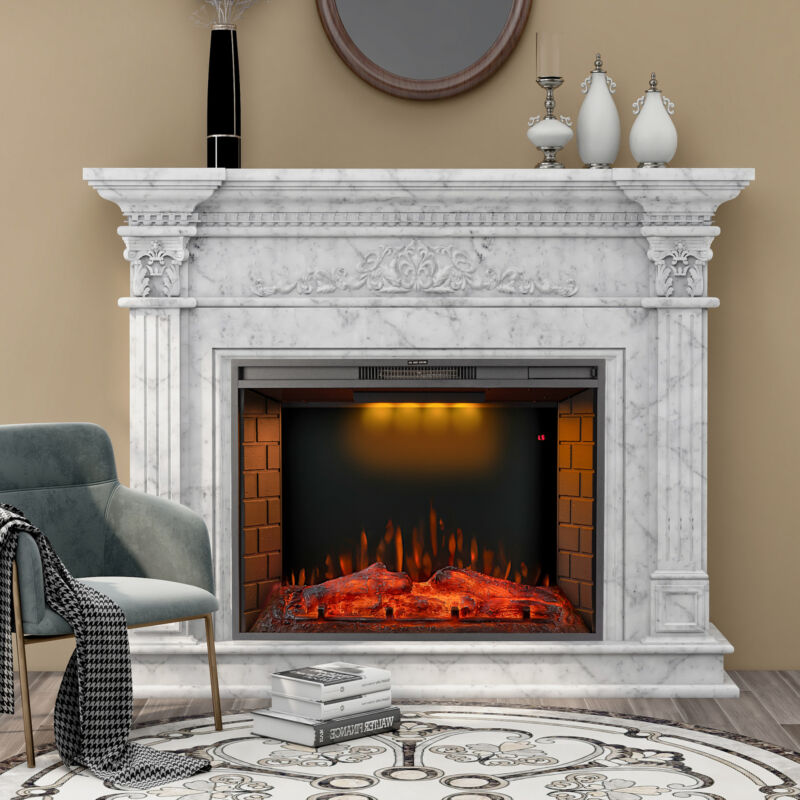 Merax 28/30/33 inch LED Recessed Electric Fireplace w/ Top Light ONLY FIREPLACE