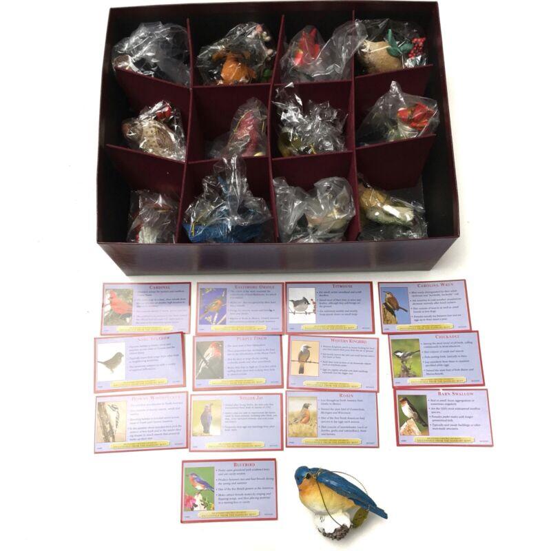 Danbury Mint Songbird Bird Figurine Ornaments Collection Of 13 NEW In Box