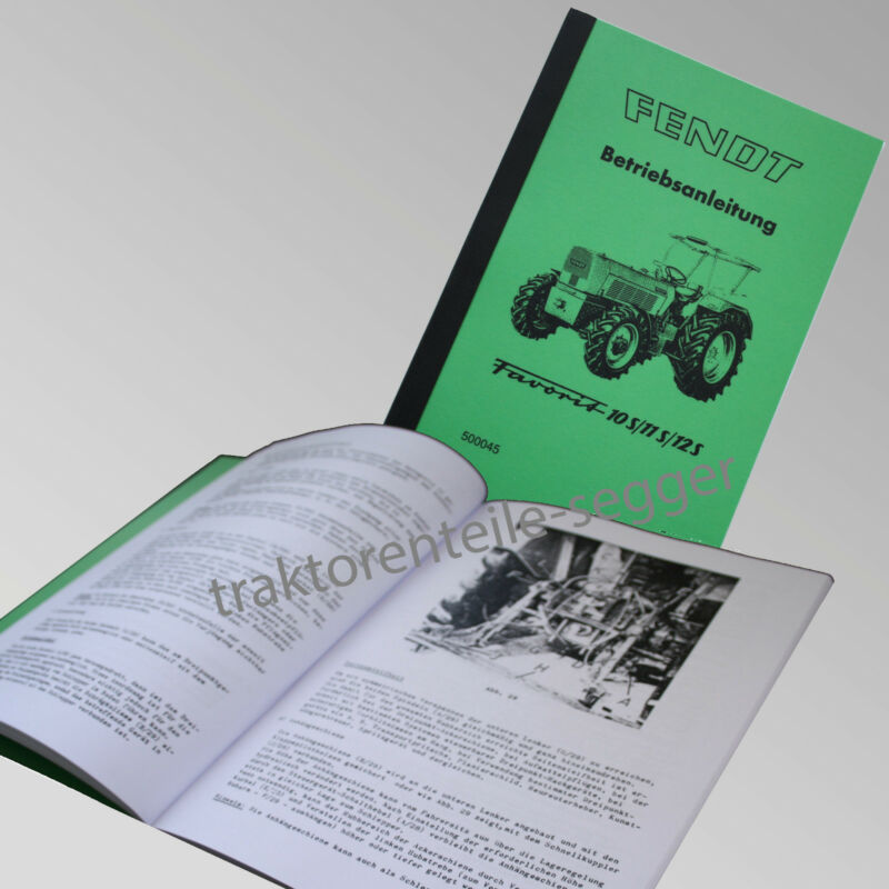 Fendt Betriebsanleitung  Favorit 10S 11S 12S Traktor Schlepper 500045 Foto 1