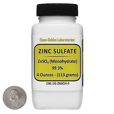 Zinc Sulfate Znso4 99.3 Acs Grade Powder 4 Oz In A Space-saver Bottle Usa