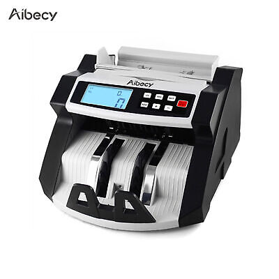 Digital Currency Counter Cash Money Value Counterfeit Detector Lcd Uv Mg C5p6