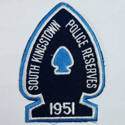 South Kingstown Police Reserves Police Rhode Island RI Arrowhead Shape Patch (A1