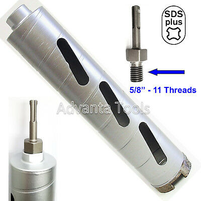 Combo 2 Dry Diamond Core Drill Bit For Concrete With Sds Plus Adapter