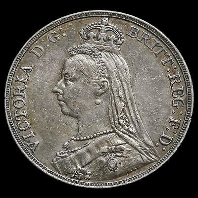1892 Queen Victoria Jubilee Head Silver Crown – GVF