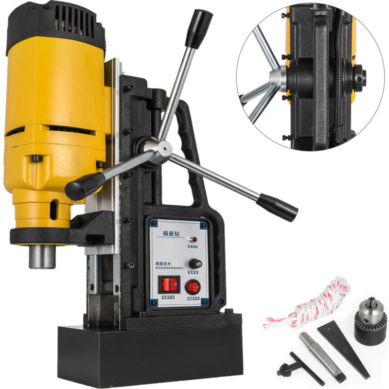 1200W J1Z-23 Magnetic Base Drill Press 23mm Boring 13500N Magnet Force Tapping