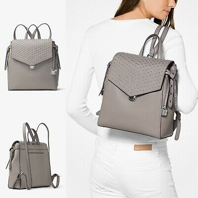 ✨Michael Kors Bristol MEDIUM Backpack In Gorgeous Grey Leather BNWT'S ✨