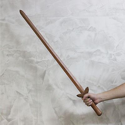 Kung Fu Practice Wooden Swords 2pcs Set Straight Oriental Martial Arts Training
