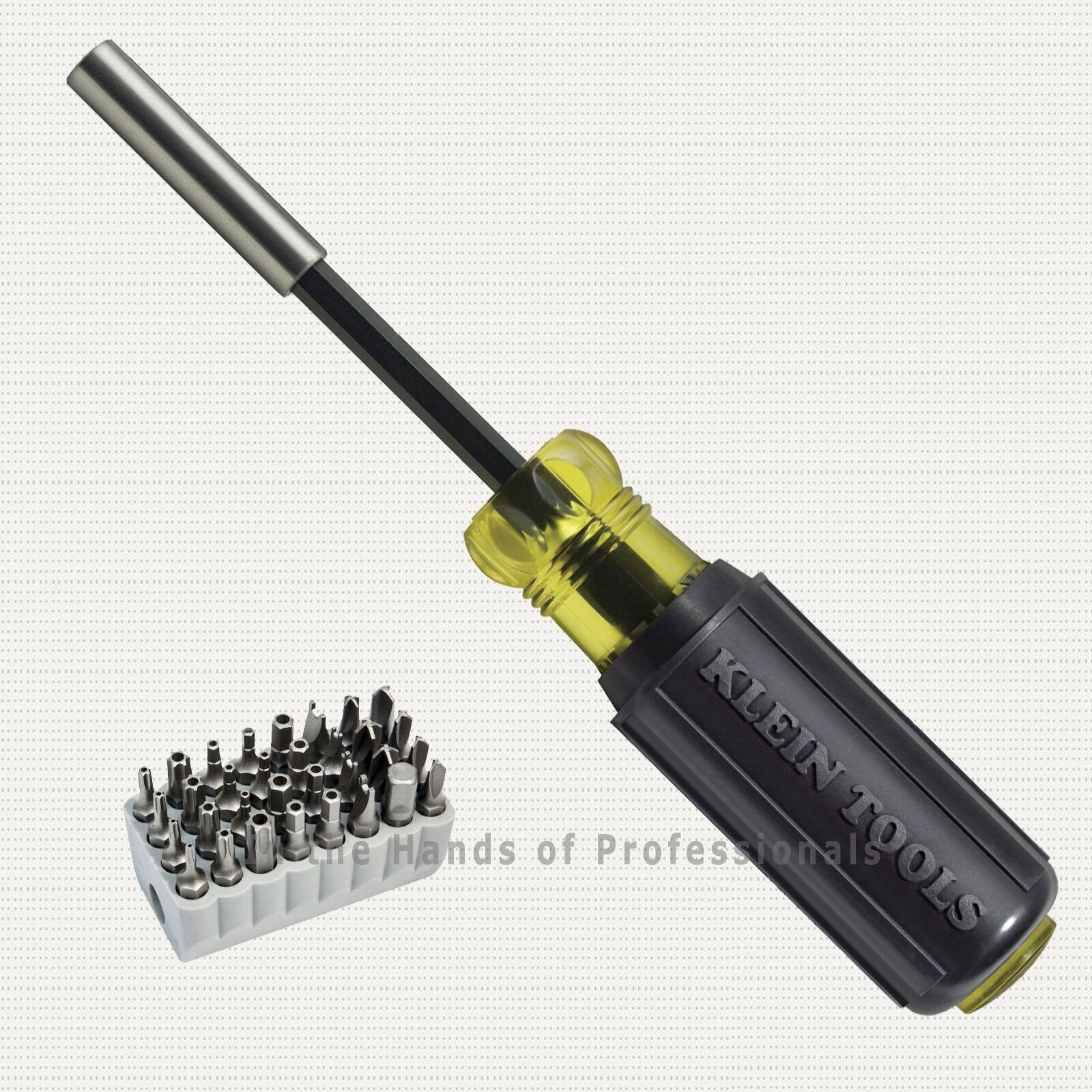 klein tools 32510 1 4 magnetic screwdriver w cushion grip tamperproof 33pc set ebay. Black Bedroom Furniture Sets. Home Design Ideas
