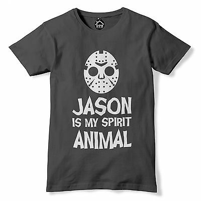 Horror Movie Halloween Outfits (Jason Mask Halloween Tshirt Friday 13th Horror Film Movie Outfit Fancy Dress)