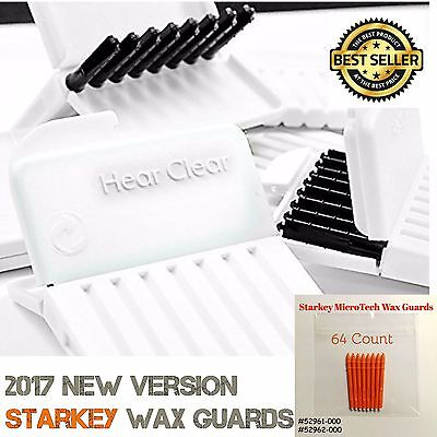 64 Starkey Microtech Hear Clear Hearing Aid Wax Guards Filters Replacement Traps