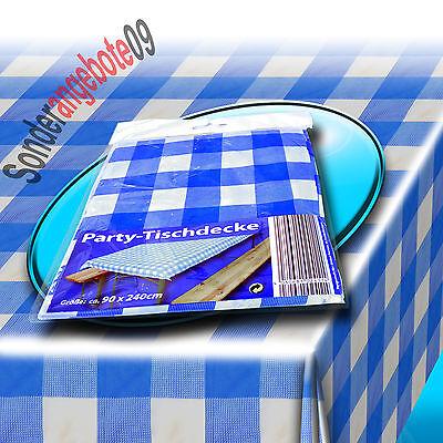 Blau Weiß karierte Tischdecke Bierzeltgarnituren Partytischdecke Biertisch karo ()